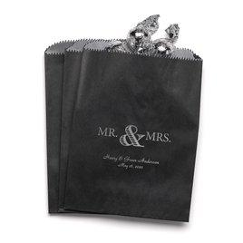 Golden Elegance - Black - Favor Bags