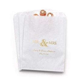 Golden Elegance - White - Favor Bags