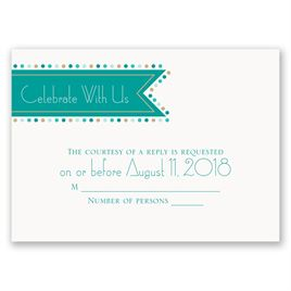 Wedding Response Cards: Banner and Dots Response Card