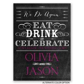 Chalkboard Celebration - Petite Vow Renewal Invitation