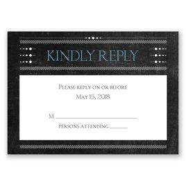 Wedding Response Cards: Chalkboard Celebration Response Card