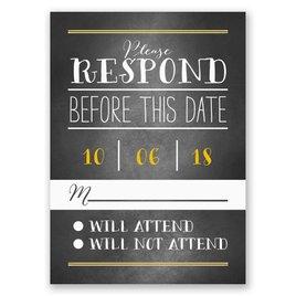 Wedding Response Cards: Pretty Borders Response Card