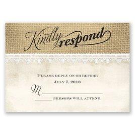 Wedding Response Cards: Rustic Renewal Response Card