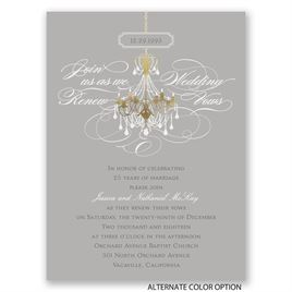 Chandelier Chic - Petite Vow Renewal Invitation
