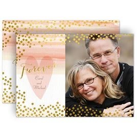 Gold: Watercolor and Gold Vow Renewal Invitation