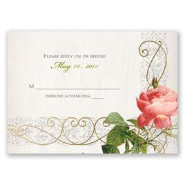 Wedding Response Cards: Boho Beauty - Foil Response Card