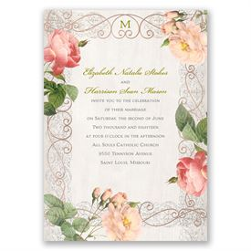 Boho Beauty - Rose Gold - Foil Invitation
