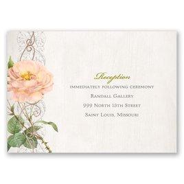 Boho Beauty - Rose Gold - Foil Reception Card