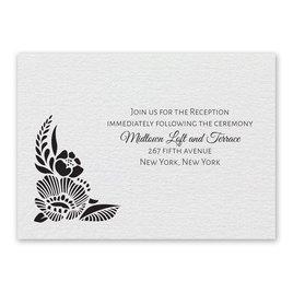 Wedding Reception and Information Cards: Woodland Window Reception Card
