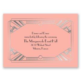 Love Captured - Silver - Foil Reception Card