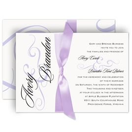 Lilac Wedding Invitations: Modern Beauty Invitation