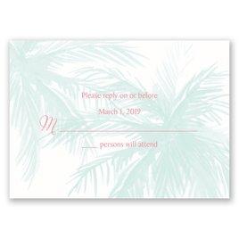 Wedding Response Cards: Palm Tree Passion Response Card