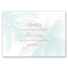Wedding Reception and Information Cards: Palm Tree Passion Reception Card