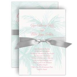 Wedding Invitations: Palm Tree Passion Invitation