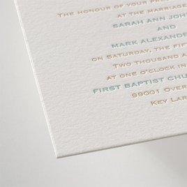 Tropical Chic - Letterpress Invitation