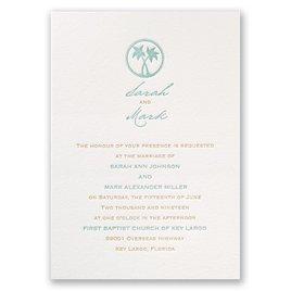 Letterpress Wedding Invitations: Tropical Chic Letterpress Invitation
