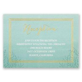 Sea Beauty - Aqua - Foil Reception Card