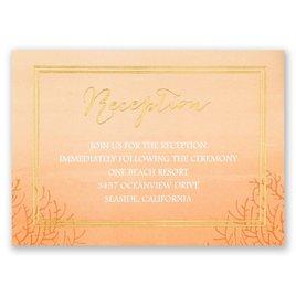 Sea Beauty - Corabell - Foil Reception Card