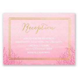 Sea Beauty - Fuchsia - Foil Reception Card
