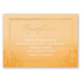 Sea Beauty - Poppy - Foil Reception Card