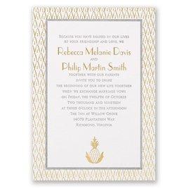 Wedding Invitations: Sweet Surprise Letterpress and Foil Invitation