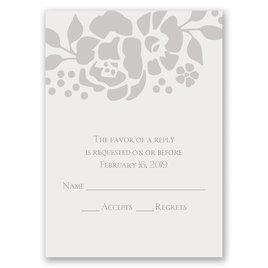 Wedding Response Cards: Floral Extravagance Response Card
