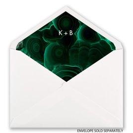 Smooth Malachite - Designer Envelope Liner