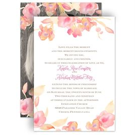 Wedding Invitations: English Rose Invitation