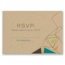 Pretty Prisms - Gold - Foil Response Card