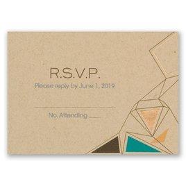 Pretty Prisms - Rose Gold - Foil Response Card