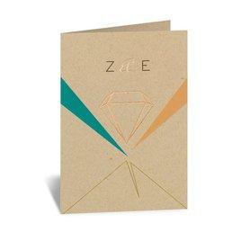 Pretty Prisms - Rose Gold - Foil Thank You Card