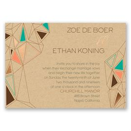 Pretty Prisms - Rose Gold - Foil Invitation