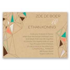 Pretty Prisms - Silver - Foil Invitation