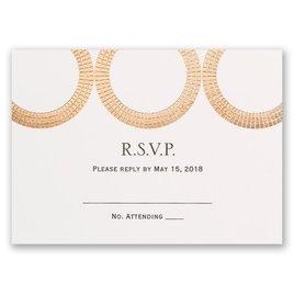 Mosaic Rings - Rose Gold - Foil Response Card
