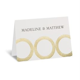 Mosaic Rings - Gold - Foil Thank You Card