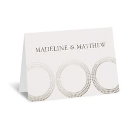 Mosaic Rings - Silver - Foil Thank You Card