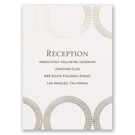Mosaic Rings - Silver - Foil Reception Card