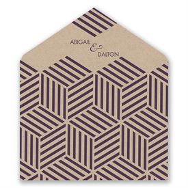 Striped Illusion - Designer Envelope Liner