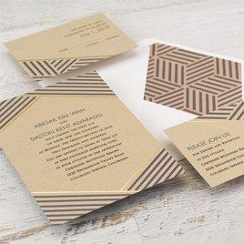 Striped Illusion - Foil Invitation