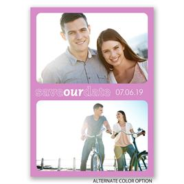 Simply Framed - Save the Date Postcard