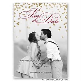 Gold Polka Dots - Save the Date Magnet