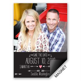 Save The Dates: Points to Love Save the Date Magnet