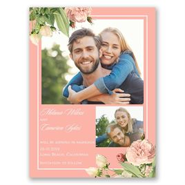 Save The Dates: Brilliant Blooms Save the Date Card