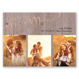 Soon to Marry - Rose Gold - Foil Save the Date Card