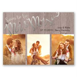Soon to Marry - Silver - Foil Save the Date Card