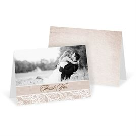 Thank You Cards: Lace Lining Thank You Card