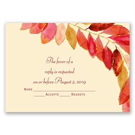Fall Invitation and Respond Card FALL-03-INV-RC-Digital Download