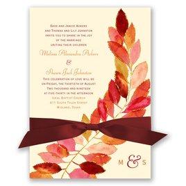 Feathered Fall Invitation
