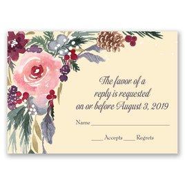 Wedding Response Cards: Bold Blooms Response Card