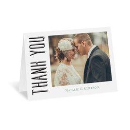 Modern Thank You Cards: A Wedding Celebration Thank You Card